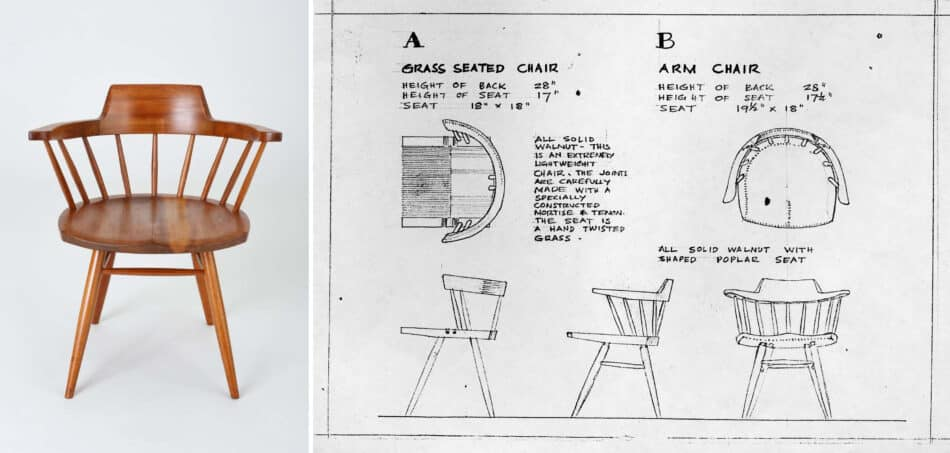 Captain's chairs by George Nakashima