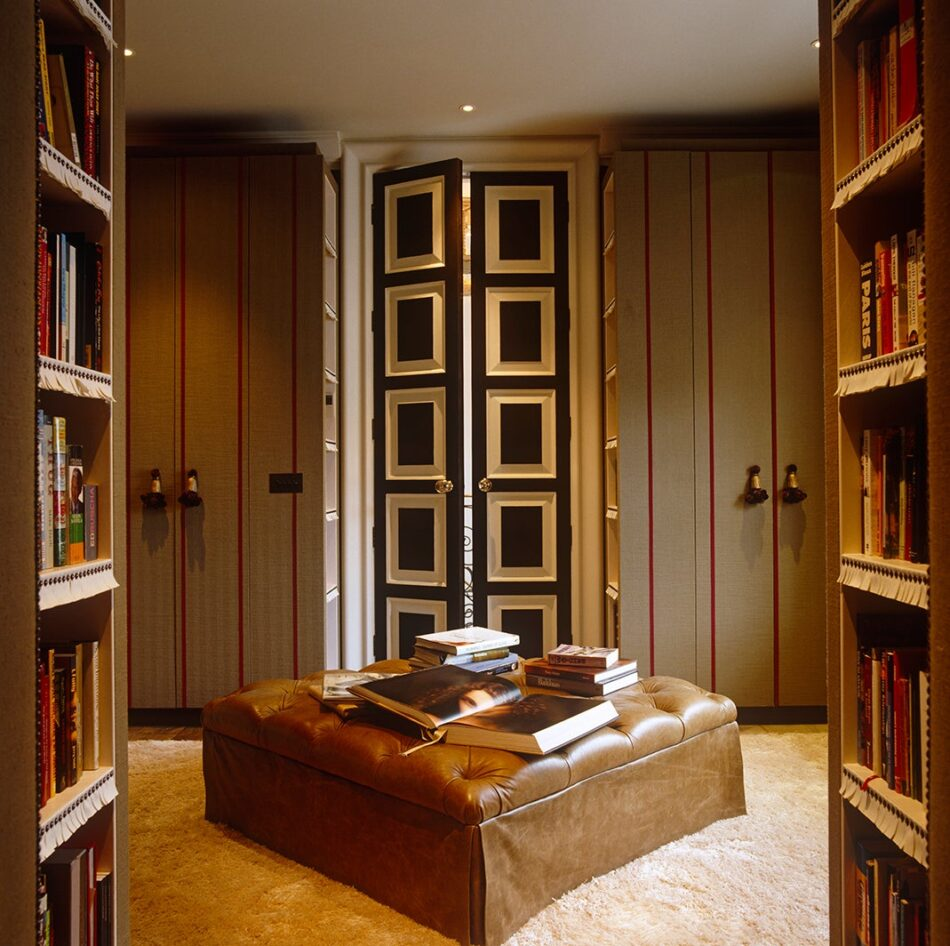 This London space by NH Design is part closet, part reading lounge.