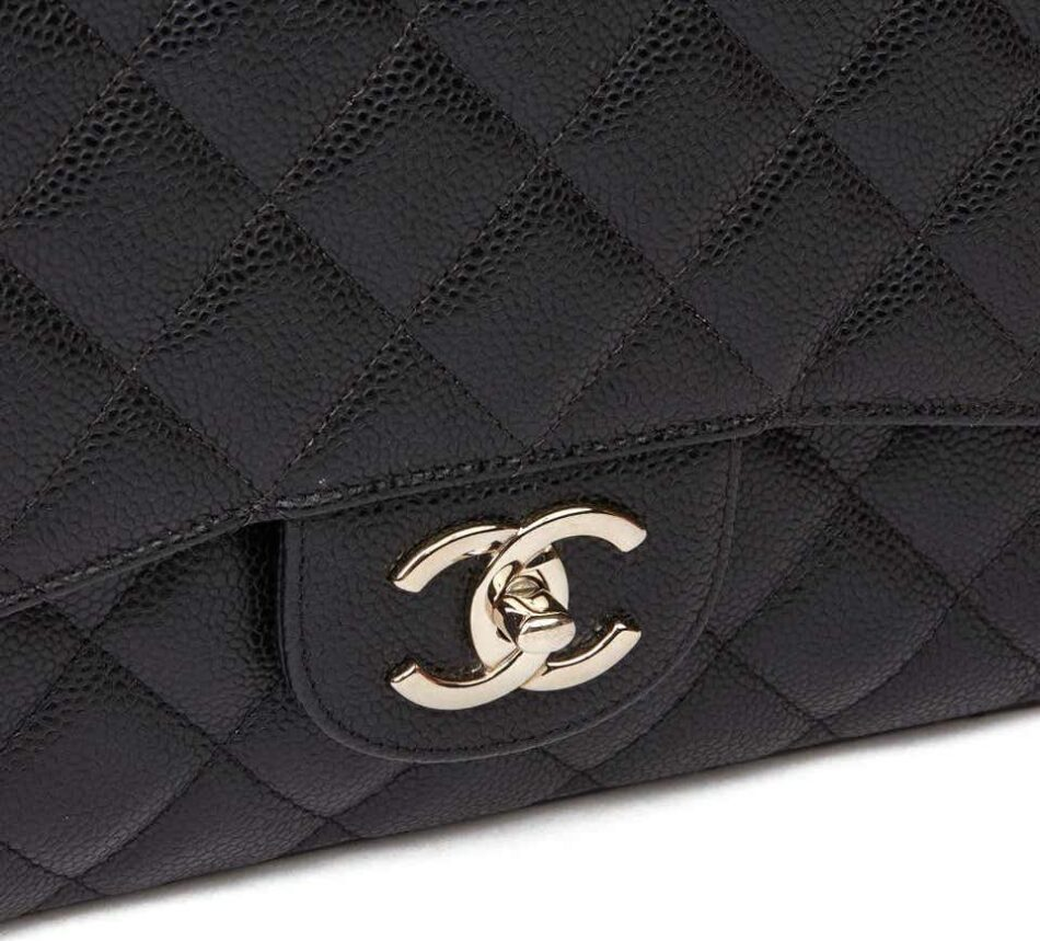 Chanel Black Quilted Caviar Leather Maxi Classic Double Flap Bag, 2014