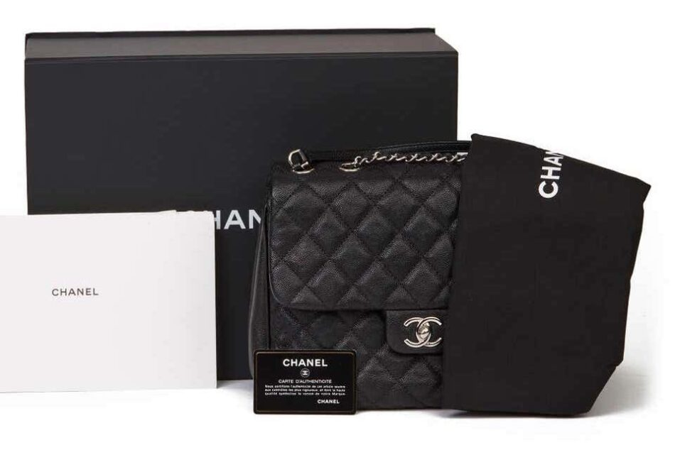 2019 Chanel Black Quilted Caviar Leather Urban Companion Flap Bag