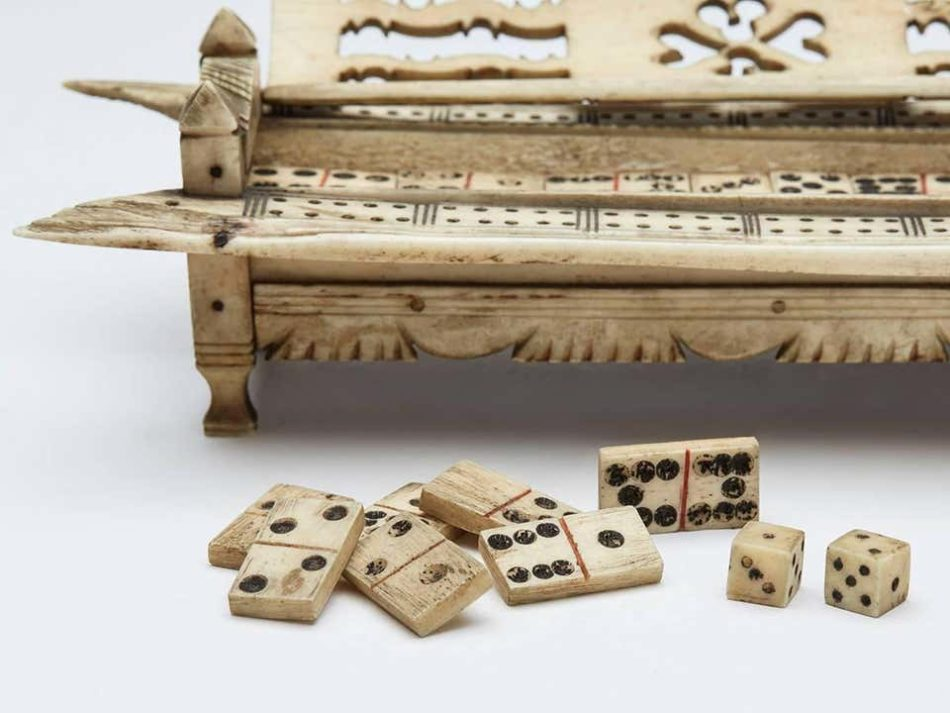 Napoleonic Prisoner of War Games Box, ca. 1800