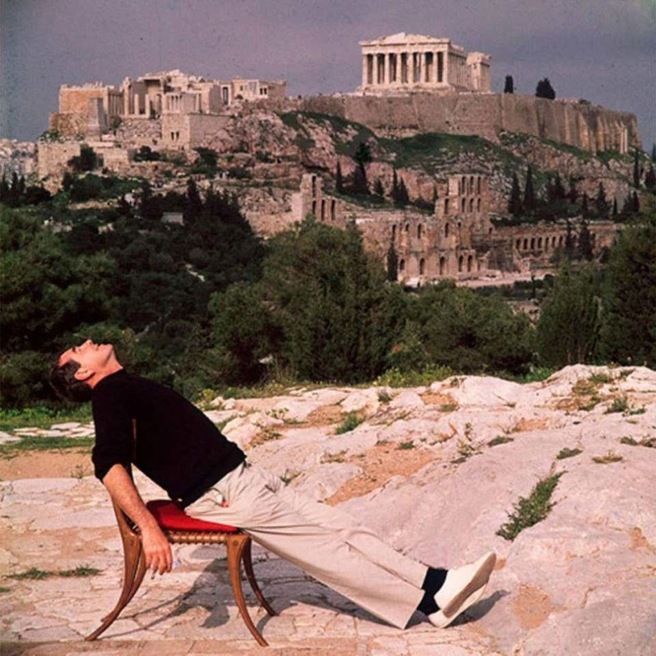 Civilized Snooze, Self Portrait in Athens, 1955, by Slim Aarons
