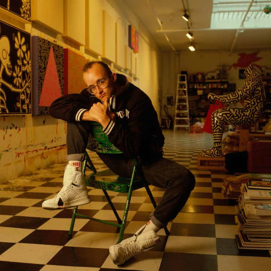Keith Haring, 1988, by William Coupon