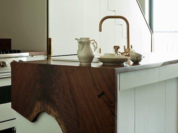 Tea service in a Brooklyn kitchen designed by Workstead
