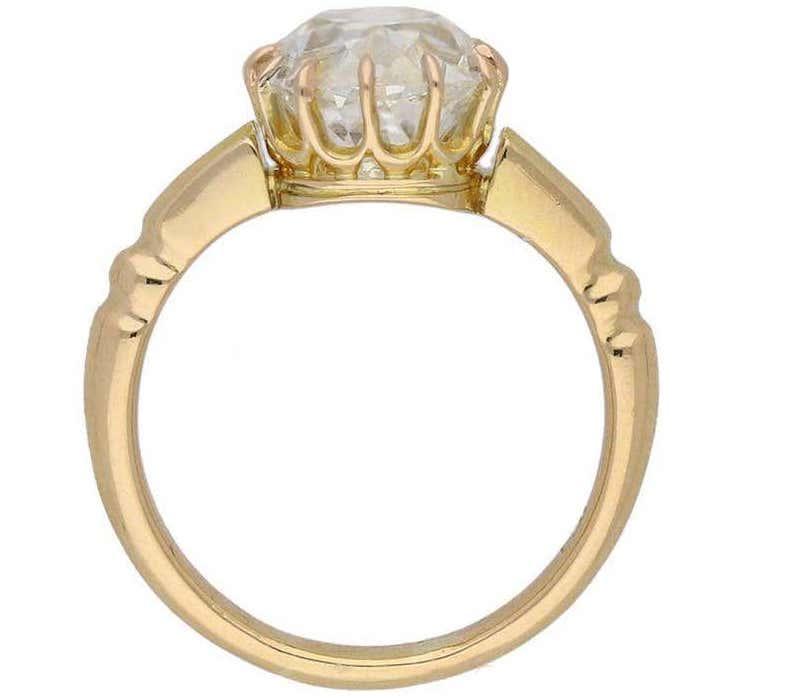 English old mine diamond solitaire ring, ca. 1890