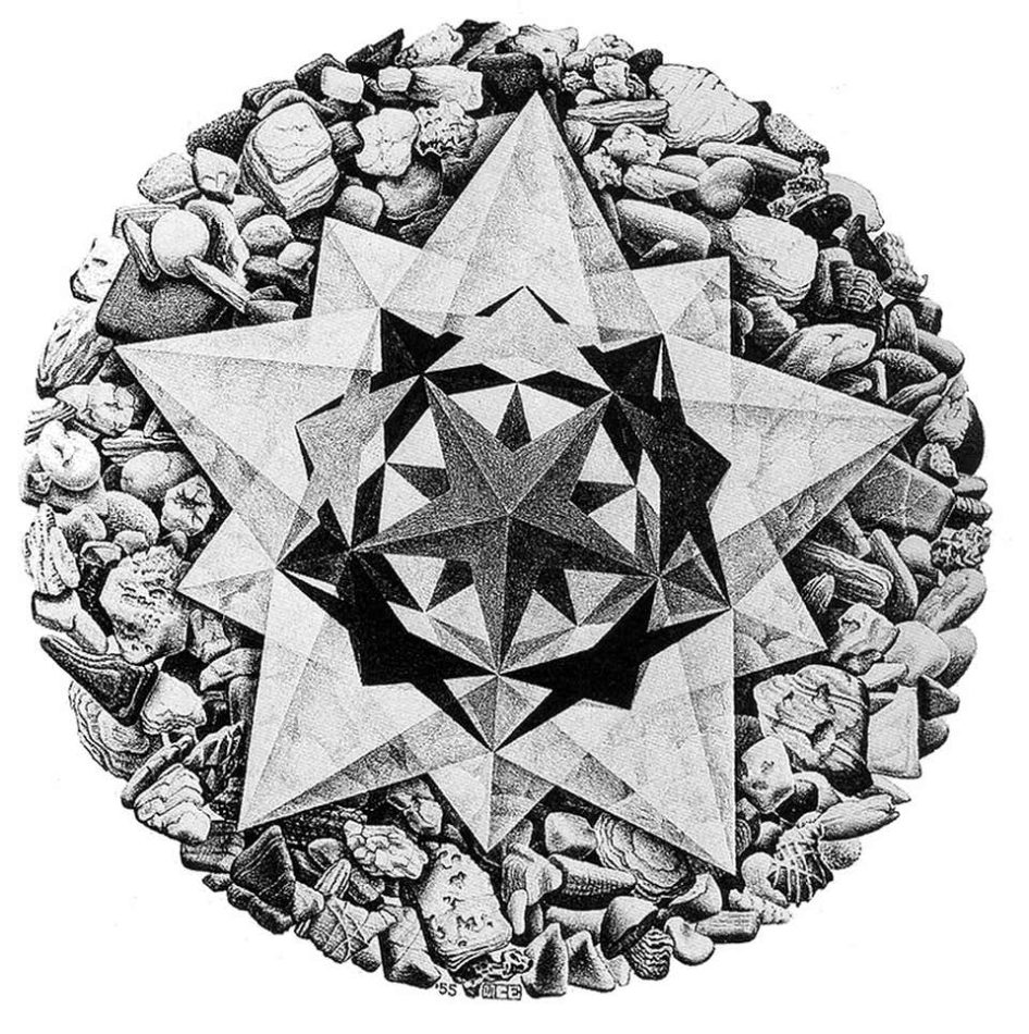 Order and Chaos II, 1955, by M.C. Escher