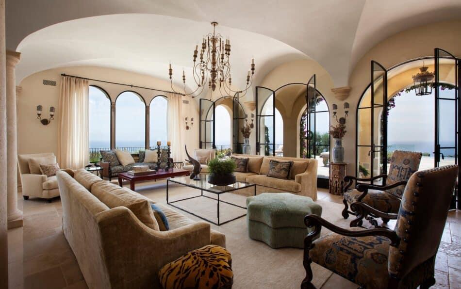 Living room in Malibu