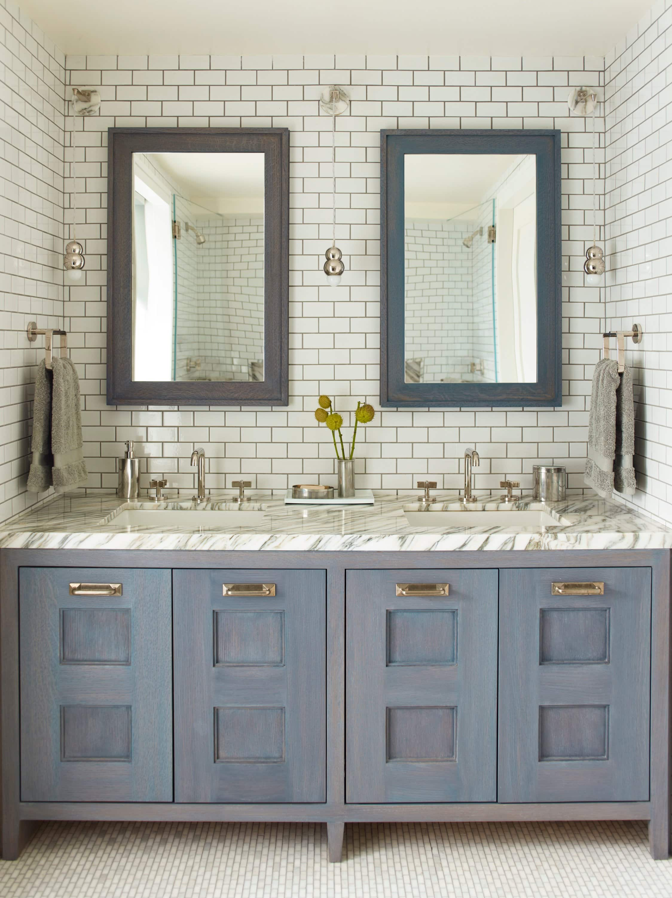 blue and white bathroom by Consort