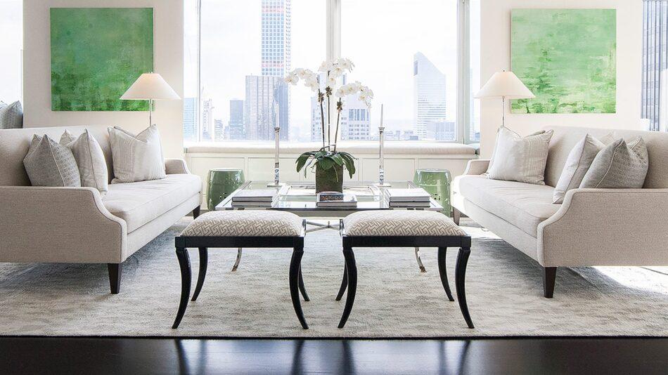 Living room in New York