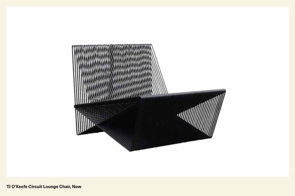 Black steel chair