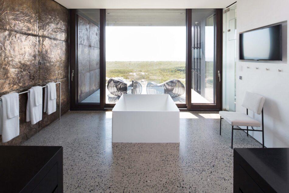 Taryn Christoff-designed bathroom in Long Island