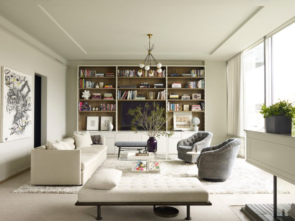 modern white living room by Shawn Henderson