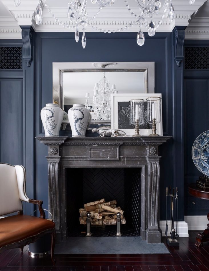 Chesneys fireplace in a Moscow showhouse by Foley & Cox