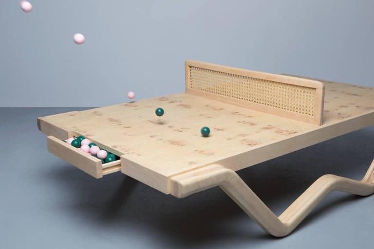 Louie George Michael Tina Burner ping-pong table