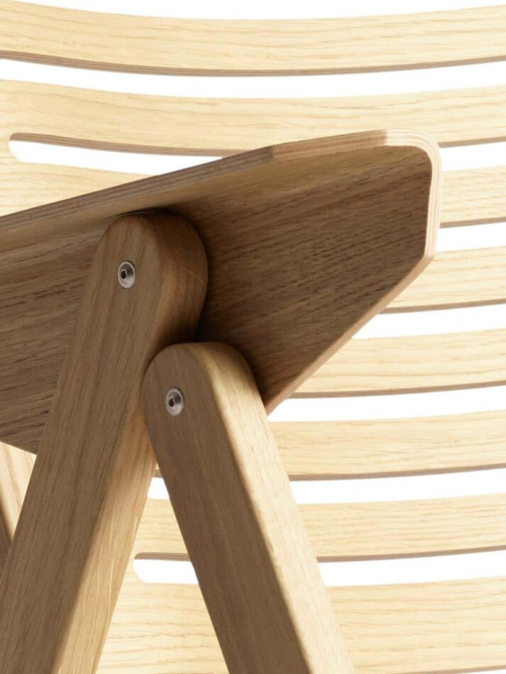 Niko Kralj Rex rocking chair folding mechanisms as well as the bentwood technique used to wrap the plywood arm.