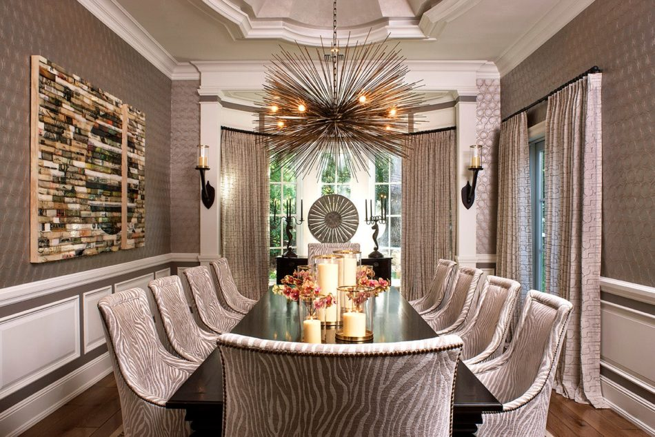 Los Angeles dining room by Jeff Andrews