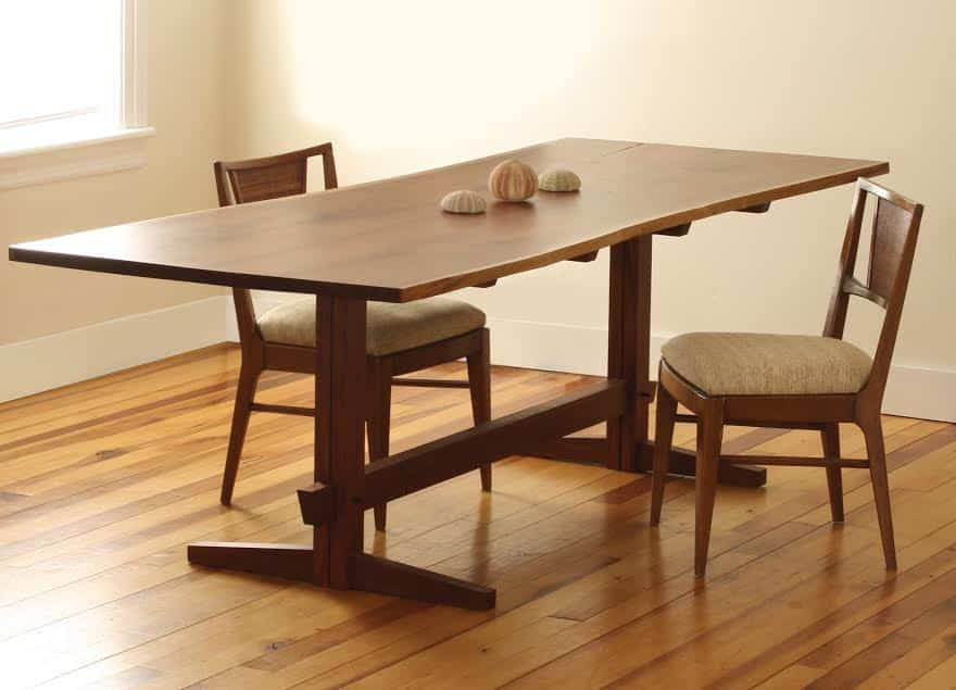 Black Walnut Midcentury Style Dining Table and XX chairs