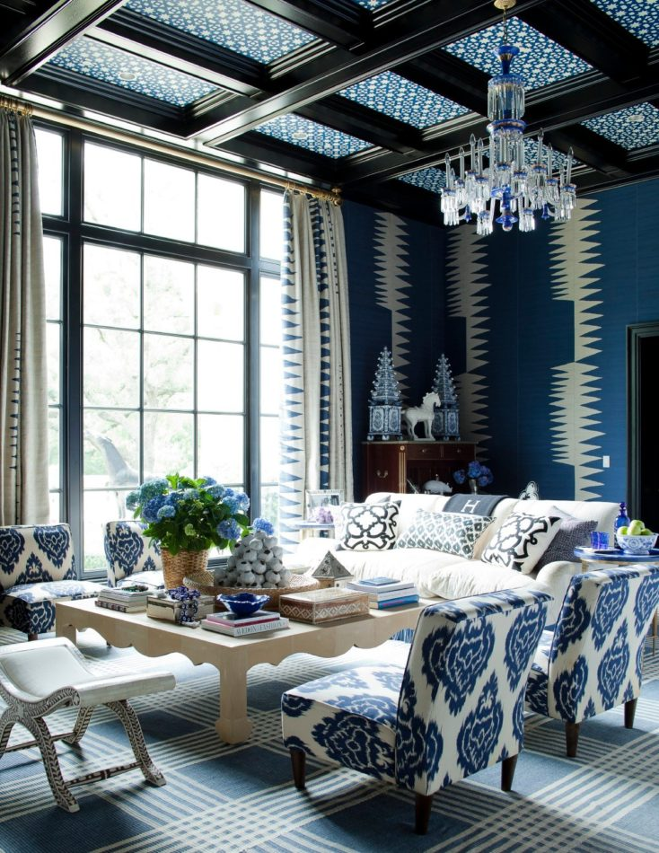 Dallas living room by Kerstin Kelli. Photo by Max Kim-Bee