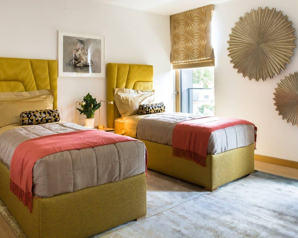 Kensington Penthouse Guest Bedroom by Carden Cunietti